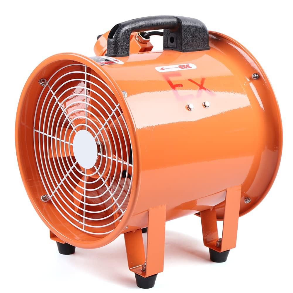 Ventilador axial, ventilador de construcción, extractor industrial, ventilador de construcción, ventilador axial, 370 W, 2800 rpm, 450 pa, para industria química metalúrgica