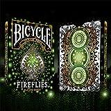 LuxTri Bicycle Fireflies | Tarjetas de póquer, cartas de reproducción + 3...