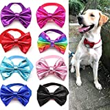 Masue Pets 8pcs/Pack Large Dog Bow tie Collar Ties for Large Dogs Leather Pet Collars Dog Grooming Accessories