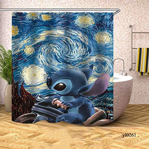 KJGTR DuschvorhangNiedlichen Tier Universum Duschvorhänge Himmel Wasserdicht Bad Vorhänge für Bad Badewanne Große Breite Bad Abdeckung Rideau De Bain