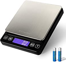 Best KitchenTour Digital Kitchen Scale - 3000g/0.1g High Accuracy Precision Multifunction Food Meat Scale with Back-Lit LCD Display(Batteries Included) Review