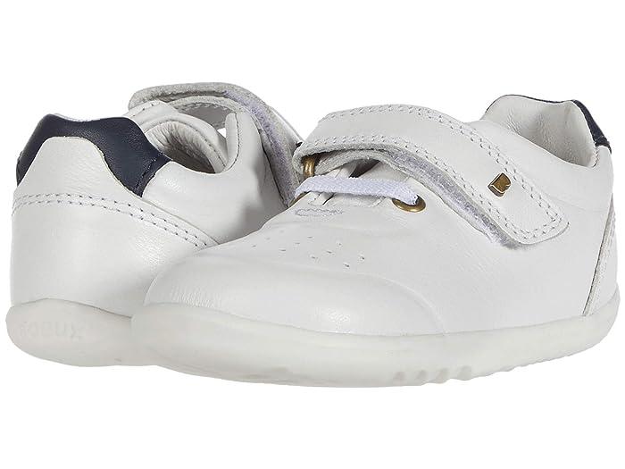 Bobux Kids  Step Up Ryder (Infant/Toddler) (White/Navy) Kids Shoes