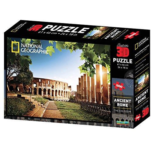 National Geographic ng10056- Puzzle 3D, Roma Antigua/El Colise, 500Piezas