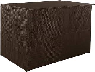 Tidyard Boîte de Stockage/Boîte de Rangement/Coffre de Rangement/Boîte de Stockage de Jardin Marron 150x100x100cm Résine T...