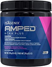 Isagenix NEW AMPED BCAA Plus 9.5 oz 270 g canister 20 servings
