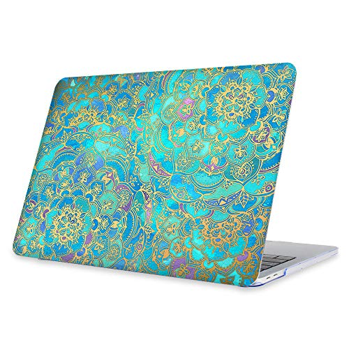 FINTIE Case for MacBook Pro 13 (2019 2018 2017 2016 Release) - Snap On Hard Shell Cover for MacBook Pro 13 Inch A2159 A1989 A1706 A1708 with/Without Touch Bar and Touch ID, Shades of Blue