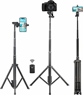 Selfie Stick Tripod, Eocean 54'' Extendable Selfie Stick with iPhone Tripod Stand & Wireless Remote, Compatible with iPhon...