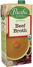 Pacific Foods Organic Beef Broth,Keto Friendly, 32 Fl Oz (Pack of 12)