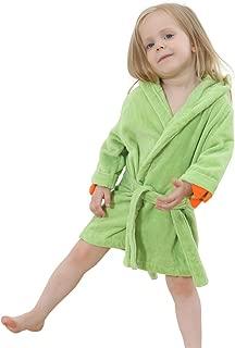 IDGIRL Toddler Dinosaur Cotton Bathrobe for Girls Boys 3-5 Years Blue