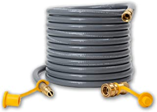 Houseables Propane Hose, Natural Gas Replacement, 3/8 Inch Outlet, 24 Feet, 50000 BTU/Hour, for Barbeque Grill, Conversion Kit, Quick Disconnect, Flexible Line, Home, Outdoor, Regulator, Fittings