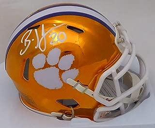 Brian Dawkins Autographed Clemson Tigers Orange Chrome Speed Mini Helmet Beckett BAS