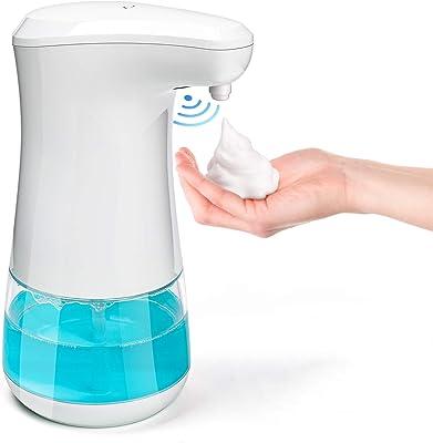 【非接触式】Aiva Toba ソープディスペンサー 泡 自動 ハンドソープ オート 除菌消毒 センサー 320ml 透明ボトル キッチン 洗面所 学校など公共の場所に適用 IPX4防水 日本語説明書付き