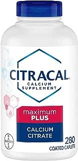 Bayer Citracal Calcium Citrate Plus D3 Maximum PLUS Essential Micronutrients Coated Caplets, 280 Count