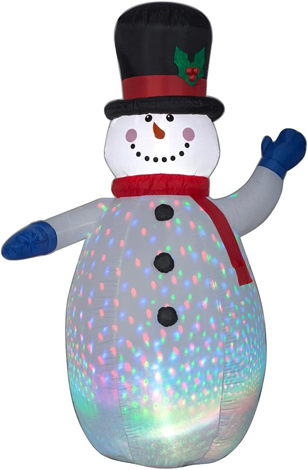 Home Accents Holiday 11993 Projection color Flash Snowman 6.5 Foot LED Light, Airblown, Inflatable