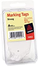 AVERY Marking Tags with Cotton String for Medium Weight Stock, White (AVE11012)