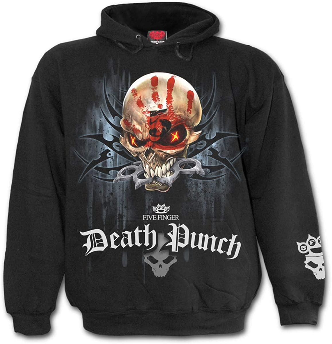Spiral Men's Five Sale special price Finger Death Houston Mall Black Punch Hoodie