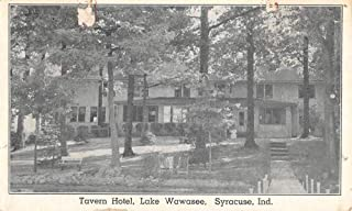 Syracuse Indiana Lake Wawasee Tavern Hotel Antique Postcard K105165