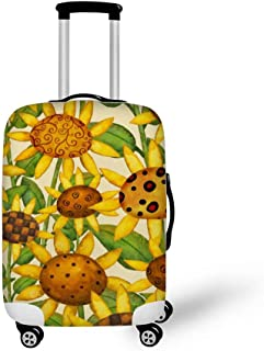 Cute Pirate Pattern Print Luggage Protector Travel Luggage Cover Trolley Case Protective Cover Fits 18-32 Inch