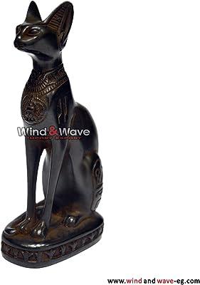 "Polyresin Egyptian God Protection Home Bastet Cat Dollhouse Mini Statue 3.25/""H"