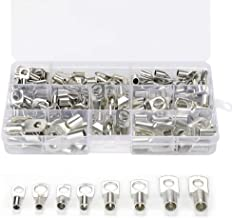 AIRTAK 120pcs Bolt Hole Tinned Copper Terminals Set-Wire terminals Connector Cable lugs Battery SC Terminals Glimpse of Mouth