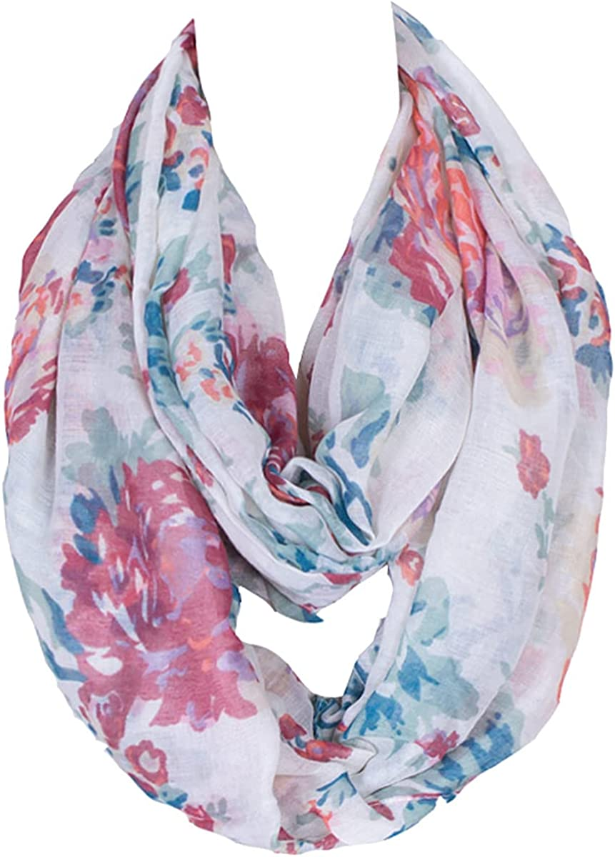 Daguanjing Fashion Lightweight Scarfs For Women Floral Print Many Style
