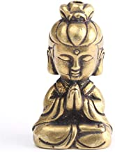 Brass Buddha Figurine Miniature Statue Ornament Indoor Household Office Figurine Mahogany Statue Crafts Decorative Home Decor
