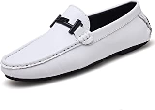 Fragrancety Italian Mens Shoes Casuals Slip On Formal Luxury Shoes Men Loafers Moccasins Genuine Leather Black