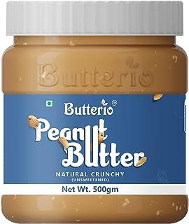 Butterio Natural Crunchy Peanut Butter (500g)