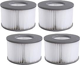 woejgo Cartouches filtrantes pour MSpa Whirlpoo Filtre de Piscine, Filtre Spa Cartouche de Filtre de Piscine, Lot de 4