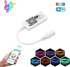 YETAIDA Magic Home WiFi RGB Led Music Controller for 5050 2835 3528 Led Light Strip,Work with Google Assistant Alexa