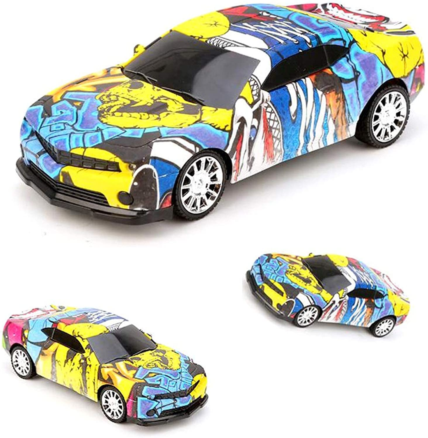 ElevenY New Remote Control Graffiti Car 1 24 4WD 2.4GHz 15KM H High-Speed Racing Vehicle Off-Road Drift RC Car Radio Control Car for Kids Adults Hobby Toys Gift(Random Style)