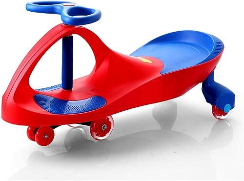 Kinder Twist Auto Baby Spielzeug Schaukel Auto Baby Slide Yo Auto Flash-Rad Alter 3 Jahre alt oder  er 81  30.5  41.5cm (Farbe   rot)