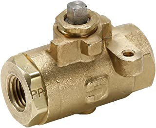 Parker V502P-6-SUB Industrial Brass Ball Valve, Female to Female, Brass, Female Pipe Panel Mount Sub Assembly, 3/8