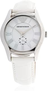 Emporio Armani Classic Women's Leather Band Watch - Analog Display, Japanese Quartz Movement