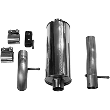 Dynomax 39516 Ultra Flo Stainless Steel Welded Cat-Back Single Exhaust System
