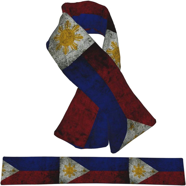 Winter Scarfs Vintage Philippine Flag Scarves Wraps Neck Warmer Flannel Winter Cross Tie Scarves