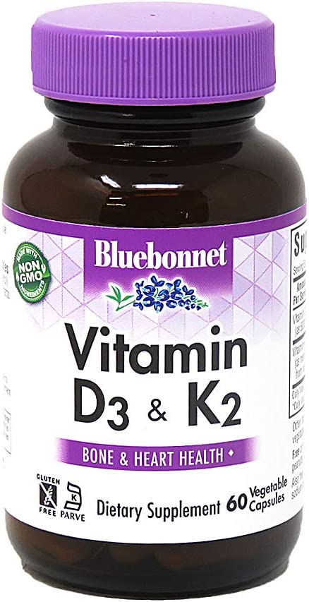 Bluebonnet Attention brand Nutrition Vitamin OFFicial store D3 Strong-Healt for Soy-Free K2