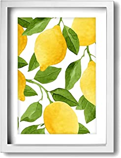Janvonne Watercolor Lemon Fruit Canvas Wall Art Decor Framed Oil Paintings Pictures Modern Decorations for Living Room Bedroom Bathroom Home Decor