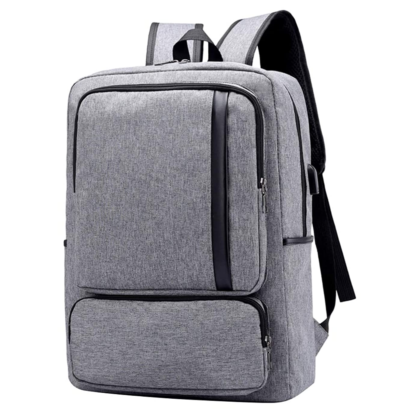 VG Bags Cero Grey 15.6-inch Slim Lightweight Laptop Backpack with USB Charging Port for Acer Chromebook, Spin, Swift, TravelMate, Aspire, Nitro, Predator 14