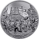 Voyagers Thirst For Discovery Black Proof Then and Now 2 Oz Moneda Plata 10$ Cook Islands 2021