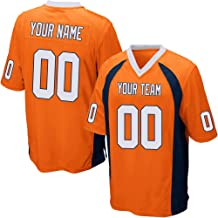 Custom Orange Mesh Make Your Own Football Jersey Embroidered Team Name and Your Numbers