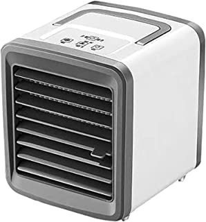 Personlig skrivbordsfläkt 3 i 1 små evaporativa kylare, luftfuktare, renare med 2 fläkthastigheter, mobil luftkylningsfläk...