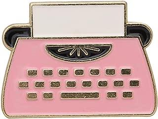 Cartoon Printer Fax Machine Enamel Pins Classical Office Supplies Writer Brooches Denim Collar Badge Pins