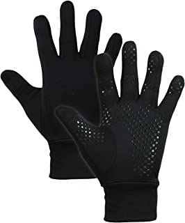 Touch Screen Running Gloves for Men & Women - Thermal Winter Glove Liners for Texting, Cycling & Driving - Warm Midweight Hand Gloves - Touchscreen Smartphone Compatible with Super Grippy Palm