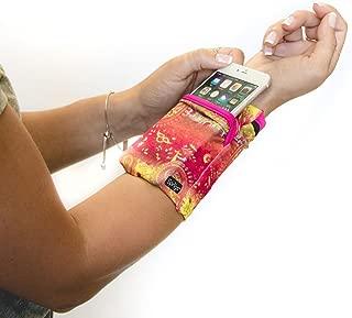 Banjees 2 Pocket Wrist Wallet for Travel, Running, Hiking