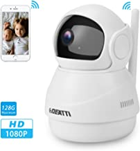 360 Wireless Security Camera 1080P for Baby Monitor,Pet Camera and Home Surveillance with Two Way Audio, Pan Tilt and Phone APP from DEATTI