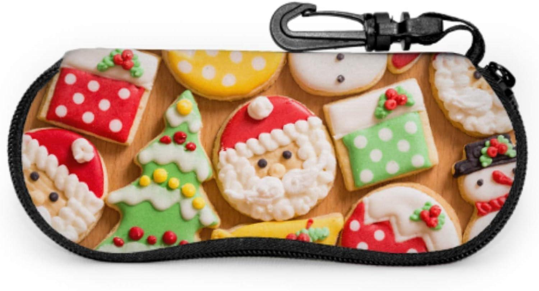 Set Of Cute Gingerbread Cookie Soft Eyeglass Cases For Men Outdoor Eyeglass Case Light Portable Neoprene Zipper Soft Case Man Glasses Case