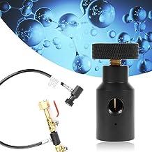 Premium metallmaterial CO2 karbonator slitstyrka passar för 21 x 4 CO2 tanktråd 1/8 npt gängad port