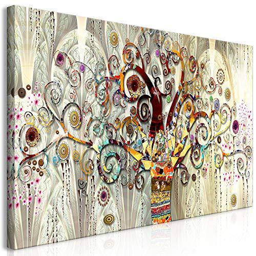 murando Quadro Mega XXXL Albero Klimt 170x85 cm Straordinario Stampa su Tela XXXL per Un Facile Montaggio Fai da Te Grande Immagini Moderni Murale DIY Decorazione da Parete Astratto l-A-0033-ak-e