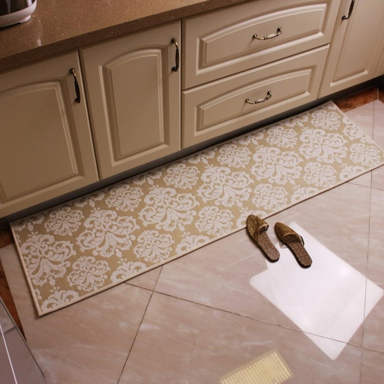 European-style kitchen floor mat  water bar mats Sliding pads  indoor mats Bedroom living room door mat-A 48x80cm(19x31inch)